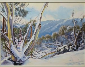"Snow Gums Victoria 24 x 30"" framed"