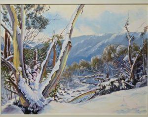 "Snow Gums Victoria 24 x 30"" framed"